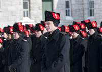 Officer Cadets of Royal Military College of Canada on parade