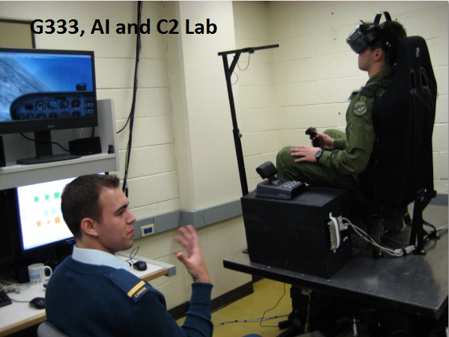 G333, AI and C2 Lab - The 3-degrees-of-freedom flight simulator at work