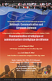 Strategic Commucation and Stratcome Defence poster