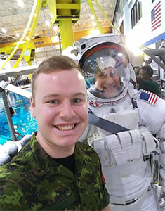 cadet with astronaut
