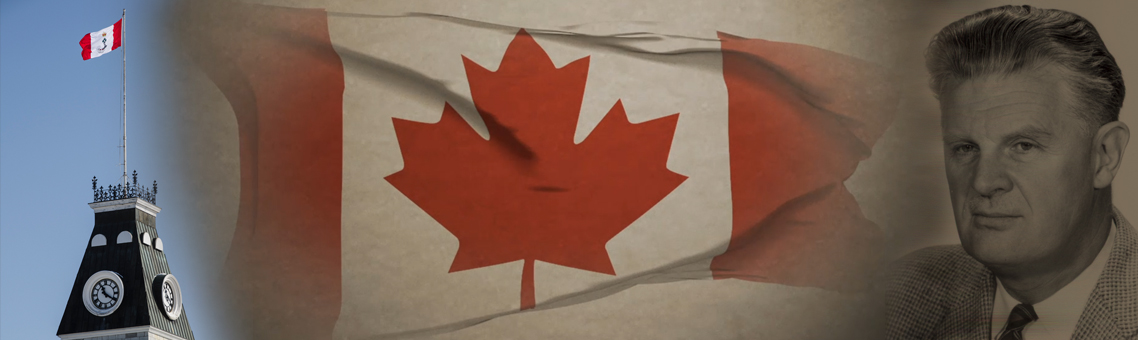 RMC flag / Canadian flag / Dr. George Stanley