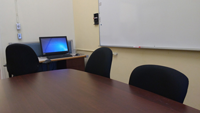 Small conference room for one-on-one tutorials and Public Service tests.