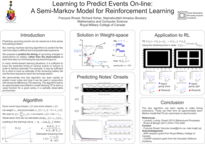 Poster - Learning to Predict Events On-line: Semi-Markov Model for Reinforcement Learning