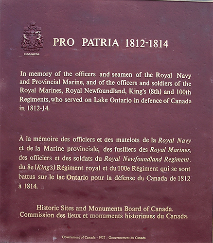 Historic Sites and Monuments Board of Canada - inscription on plaque