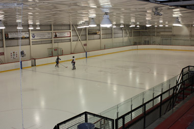 View of the ice surface from the stands