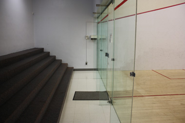 Squash court 4 with viewing area