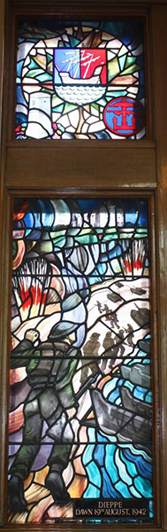The Dieppe Memorial stained-glass window