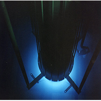 Photo galleries - A blue glow at the base of the reactor pool