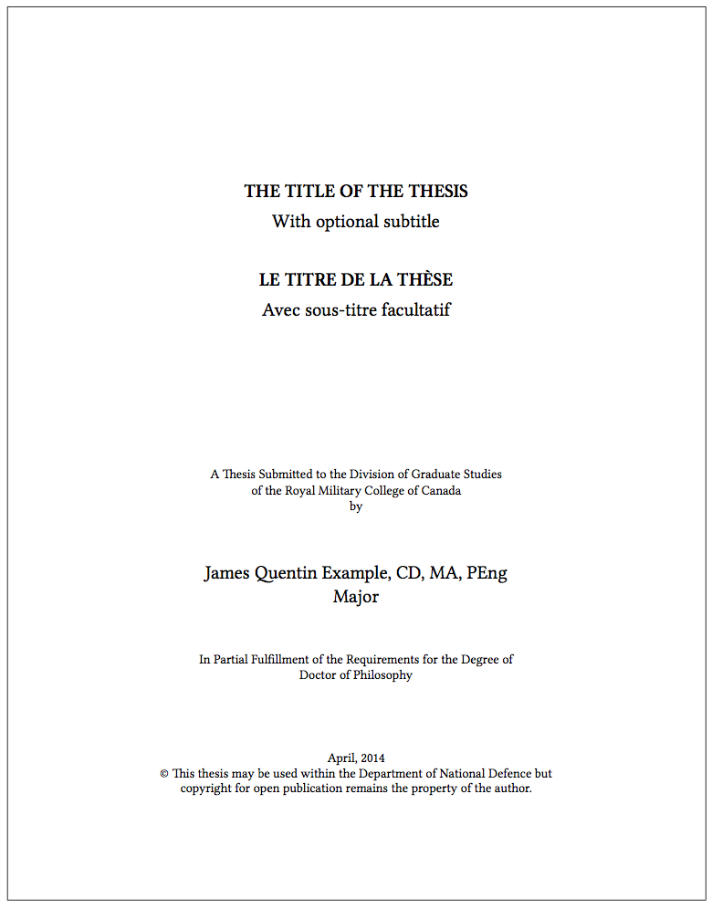 thesis title page sample